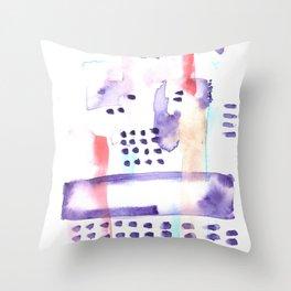 170603 Watercolour Colour Study 2  |Modern Watercolor Art | Abstract Watercolors Throw Pillow