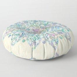 Mermaid Dreams Mandala Floor Pillow