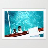 Bahama Blue Water Art Print