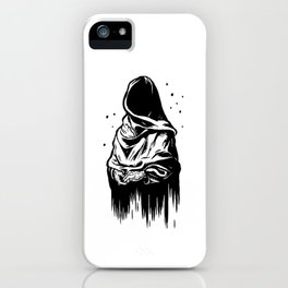 Time (Black and White) iPhone Case