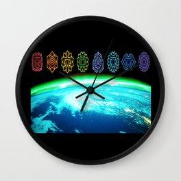 Earth Chakras  Wall Clock