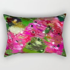 Summer Garden Abstract Rectangular Pillow