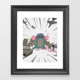 Godzelato! - Series 3: Eat this! Framed Art Print