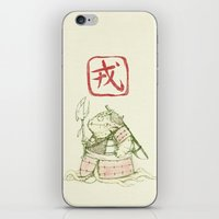 warrior iPhone & iPod Skins featuring Warrior by pigboom el crapo