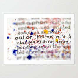 Color Definition Art Print
