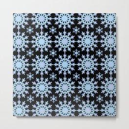 Snowflake Medallion Pattern 1 Midnight Version Metal Print