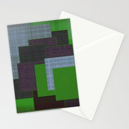 Green Color Geometry Stationery Cards