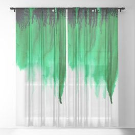 Emerald Bleed Sheer Curtain