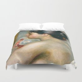 "Auguste Renoir (1841-1919) ""Dark-Haired Woman"" Duvet Cover"