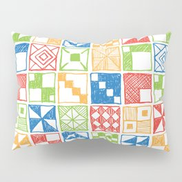 Square of Squares Pillow Sham