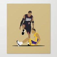 lakers Canvas Prints featuring Step Over Lue by Steven Paris