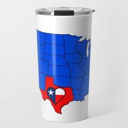The State of Texas Travel Mug