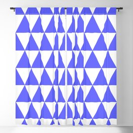 Triangles (Blue & White Pattern) Blackout Curtain
