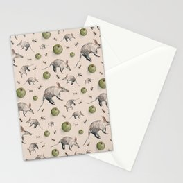 Aardvarks, Apples and Ants Pattern Stationery Cards