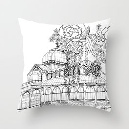 Conservatory of succulent - Black Throw Pillow