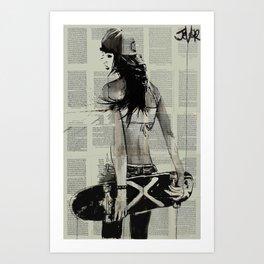 Sk8ter gurl Art Print