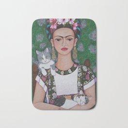 Frida cat lover Bath Mat