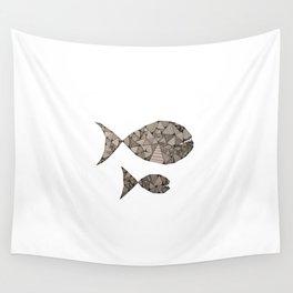 big fish small fish Wall Tapestry