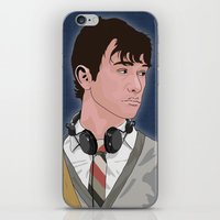 tom selleck iPhone & iPod Skins featuring Tom by ambivalentpress
