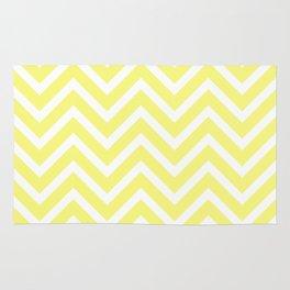Chevron Stripes : Yellow & White Rug