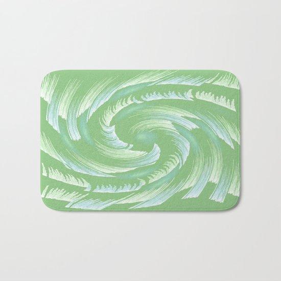 Water Swirl Abstract Bath Mat