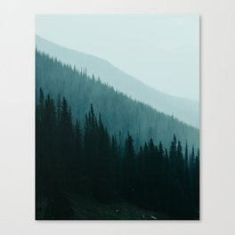Rocky Mountain Watercolor Layers Canvas Print