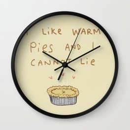 Baby Got Pie Wall Clock
