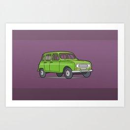 Green R4 Car Art Print