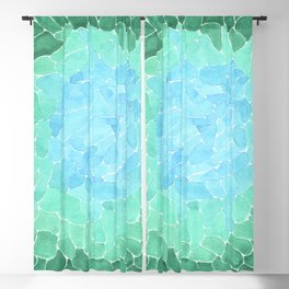 Abstract Sea Glass Blackout Curtain