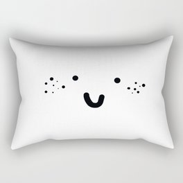 VERY HAPPY FRECKLED FACE Rectangular Pillow