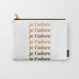 je t'adore in earthy colors Carry-All Pouch