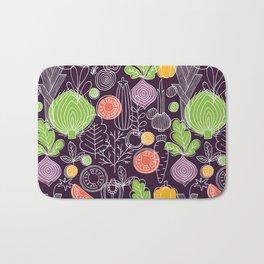 Vegetable Pattern Scandinavian Design Bath Mat