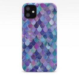 Mermaid Art, Purple, Pink, Teal, Blue, Green iPhone Case