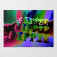 hippie Canvas Prints featuring Hippie by Rachel Thornton
