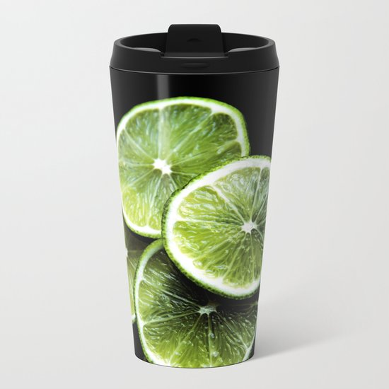 lemon lima Metal Travel Mug