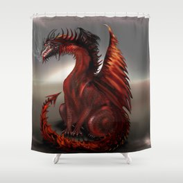 Challengers World Abstract Dragon Art Shower Curtain