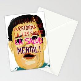 ¡LUCHA POR LA REFORMA DE LA LEY SOBRE LA SALUD MENTAL! Stationery Cards