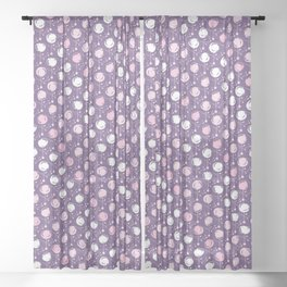Forest Pattern ~ Cherry Blossoms Sheer Curtain