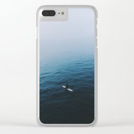 Solo Surfer Clear iPhone Case