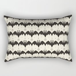 Bats & Skulls (WHITE) Rectangular Pillow