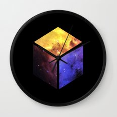Nebula Cube - Black Wall Clock