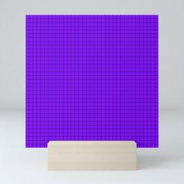 Purple Grid Black Line Mini Art Print