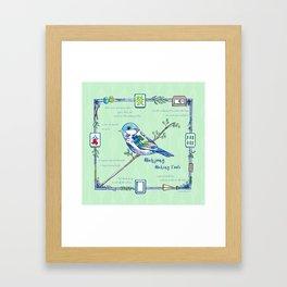 Sparrow Mahjong Framed Art Print