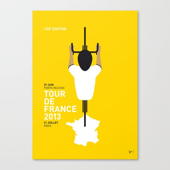 MY TOUR DE FRANCE MINIMAL POSTER 2013 Canvas Print