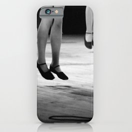 Live with both feet off the ground, inspirational dance black and white photography - photographs iPhone Case