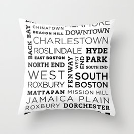 City of Neighborhoods - II Throw Pillow