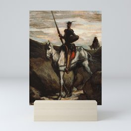 Don Quixote In The Mountains by Honore Daumier Mini Art Print