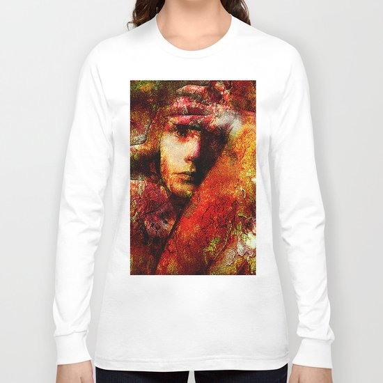 Spirit torments   (This Artwork is a collaboration with the talented artist Timothy Davis ) Long Sleeve T-shirt