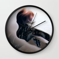moth Wall Clocks featuring Moth by Stephen Linhart
