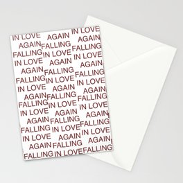 falling in love again (joyce manor) Stationery Cards